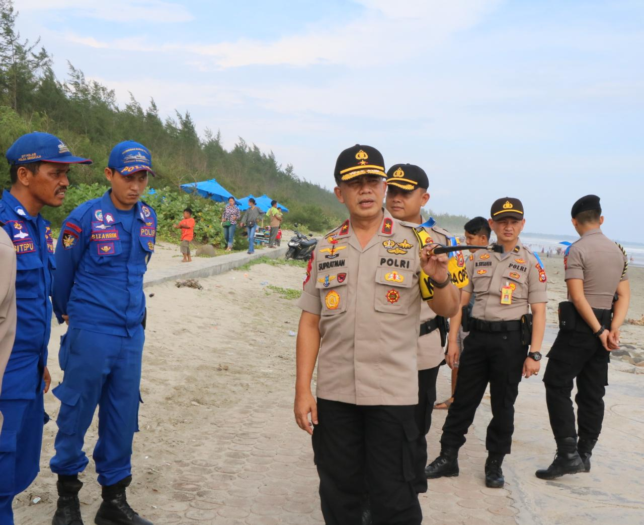 Tingkatkan Pelayanan Polisi Berikan Pengamanan 24 Jam Di Objek Wisata