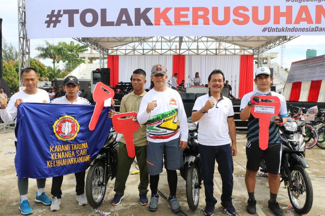 Ini Pemenang 3 Unit Sepeda Motor Fun Bike dan Olahraga Bersama Polda Bengkulu
