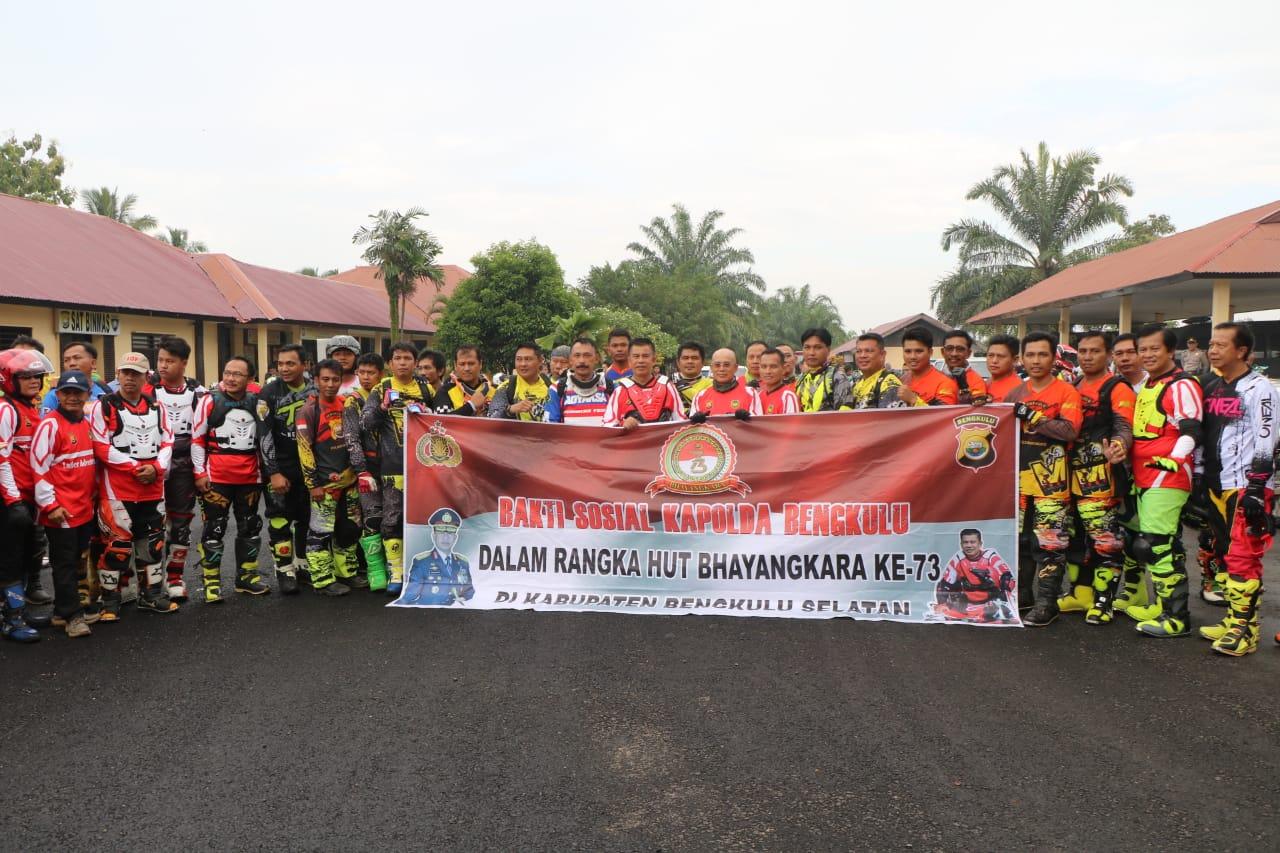 Kapolda Bengkulu Bersama Ratusan Peserta Ikuti Trail Adventure Bhayangkara