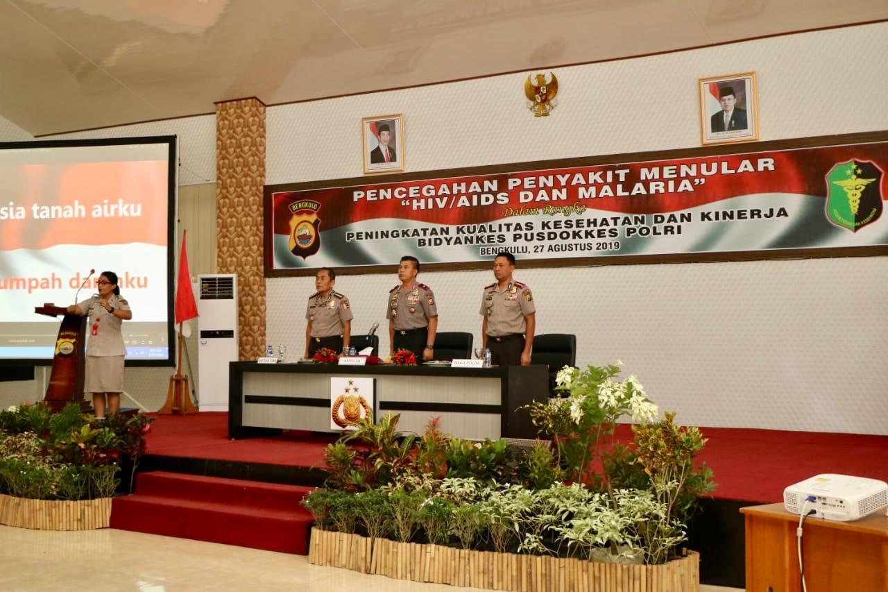 Cegah Penyakit Menular, Pusdokkes Polri Sosialisasi di Polda Bengkulu