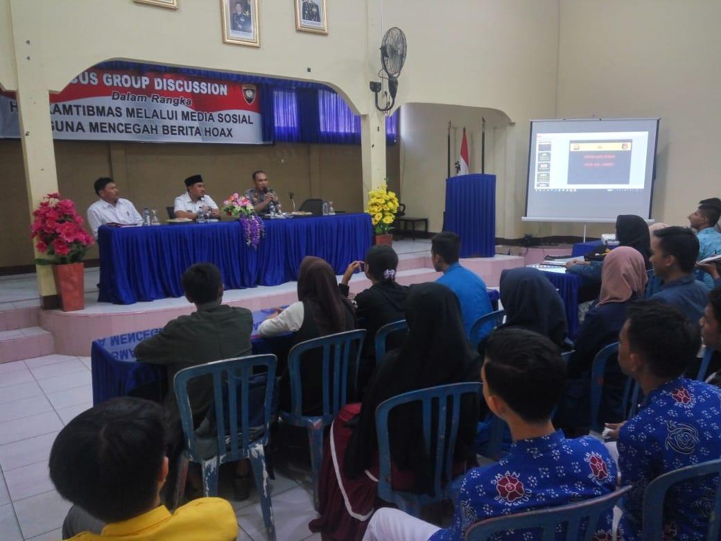 Cegah Berita Hoax, Sat Binmas Polres Bengkulu Gelar FGD