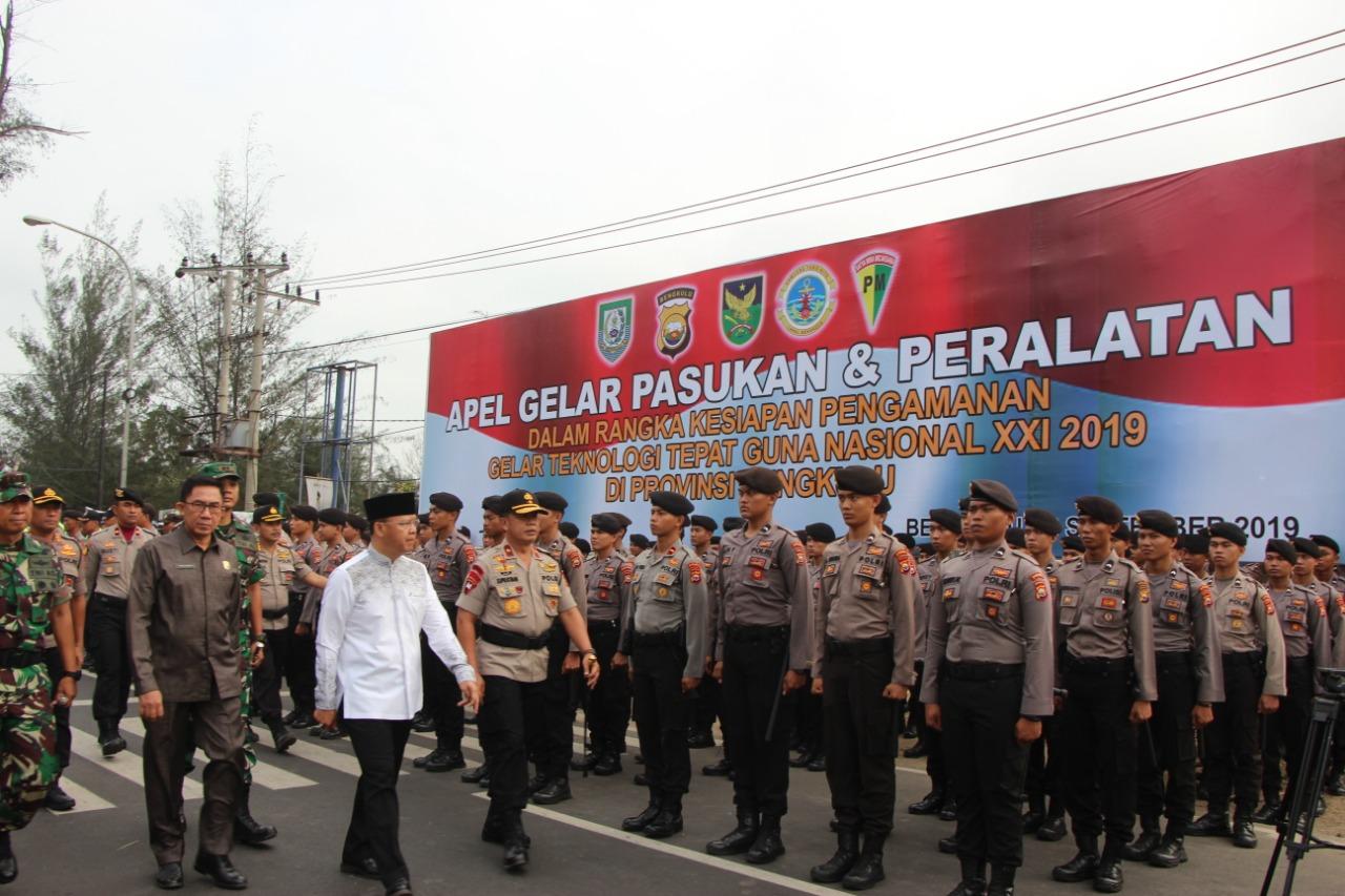 Total!!! Polda Serius Amankan GTTGN 2019 Di Bengkulu