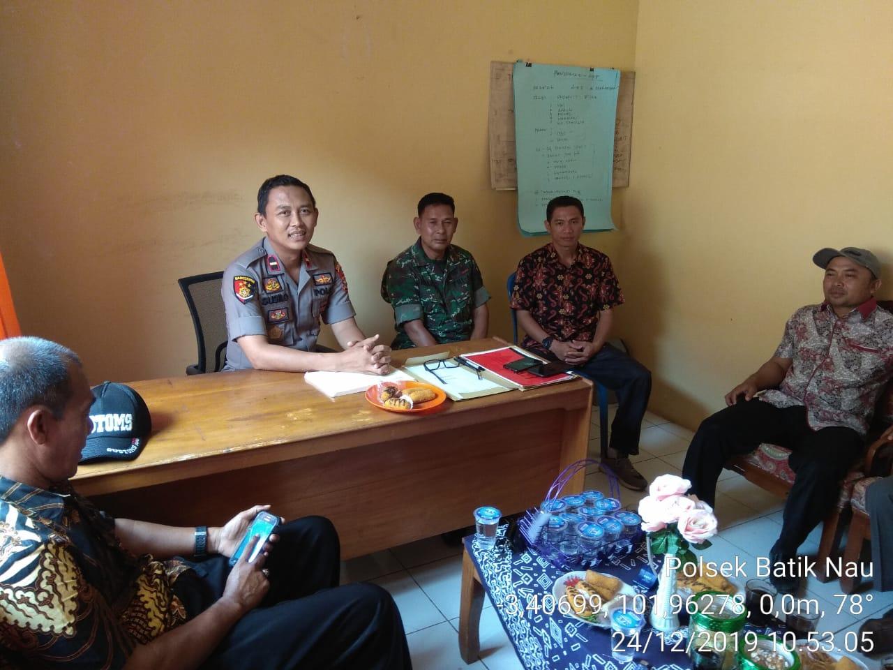 Antisipasi Gejolak Ditengah Masyarakat, Tripika Batiknau Gelar Diskusi Kamtibmas