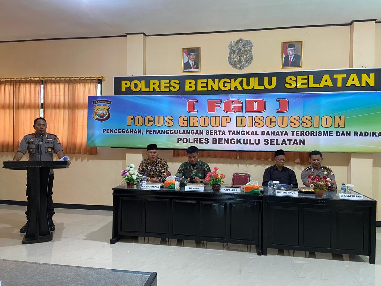 Polres Bengkulu Selatan Gelar FGD Bersama Lintas Sektoral