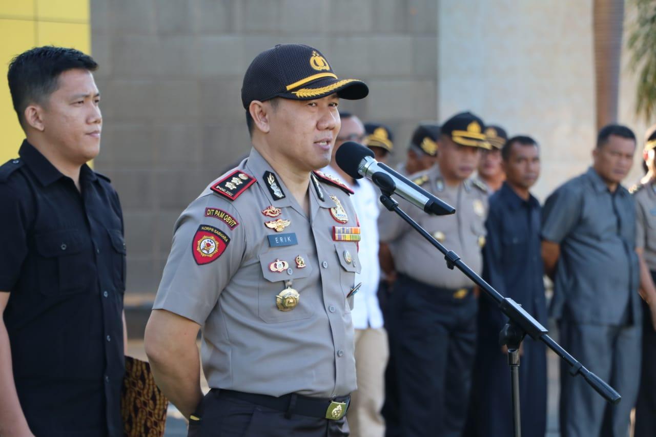 Hari Pertama Dinas di Polda Bengkulu, Dir Pamobvit Perkenalkan Diri Pada Anggota