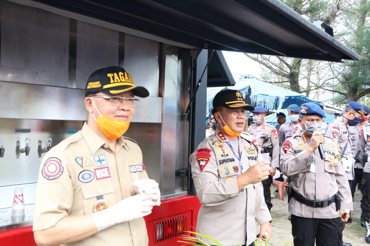 Polri-TNI dan Pemda Bengkulu Bersinergi Dirikan Dapur Lapangan Bantu Masyarakat Terkena Dampak Covid-19
