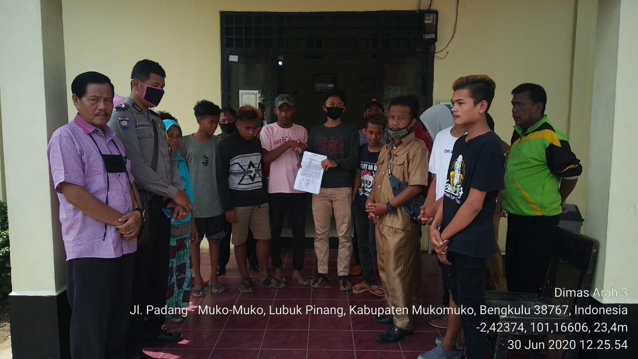 Polsek Lubuk Pinang Polda Bengkulu Mediasi Tawuran Remaja Desa Arah Tiga dan Desa Talang Petai