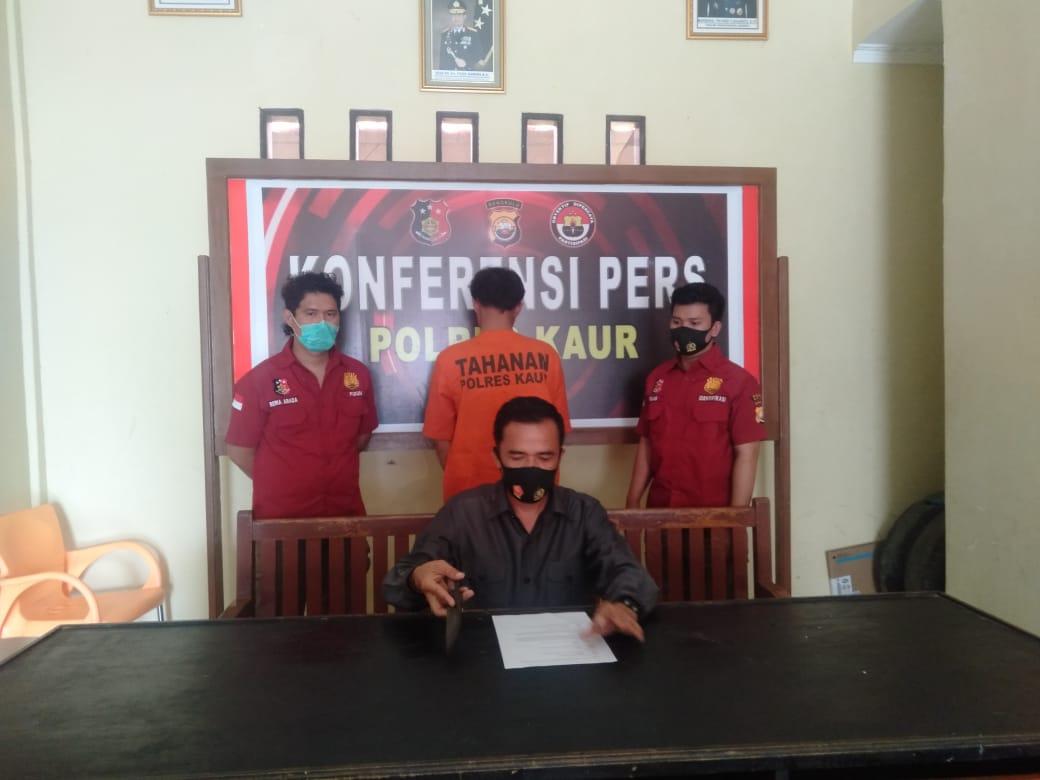 Backup Polsek TK, Sat Reskrim Polres Kaur Amankan Pelaku Penganiayaan