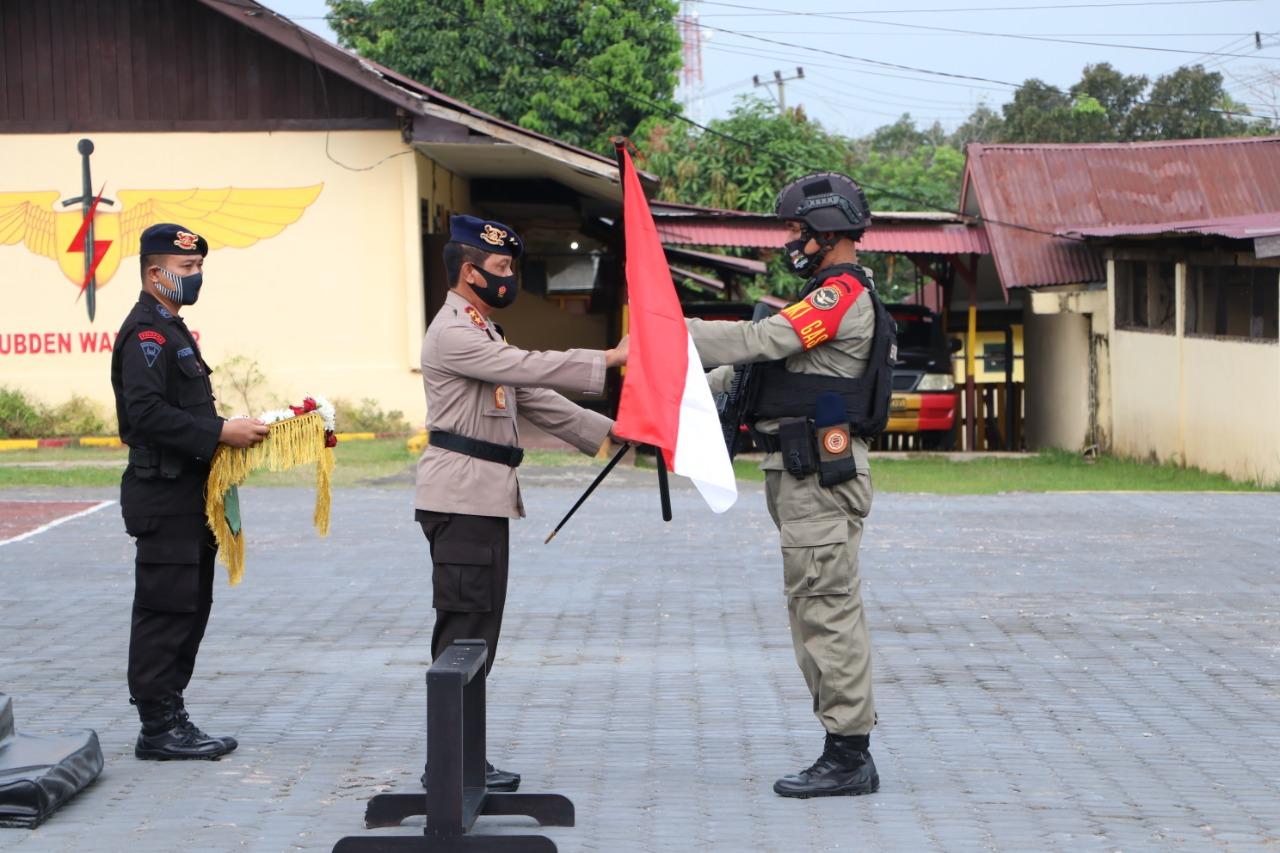 Polda Bengkulu Gelar Upacara Penyambutan Personel Brimob BKO Papua