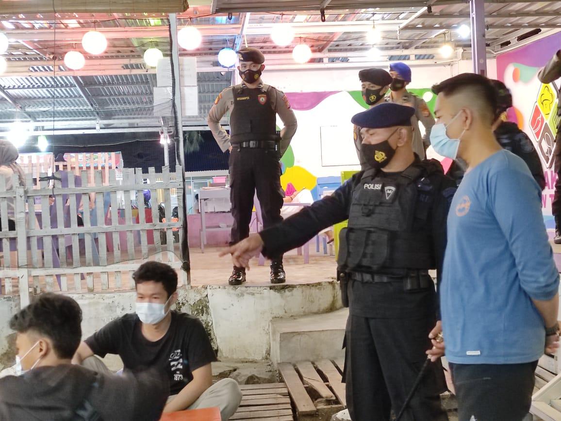 Tanggulangi Penyebaran Covid 19, Satgas Aman Nusa Polda Bengkulu Gelar Patroli Himbauan