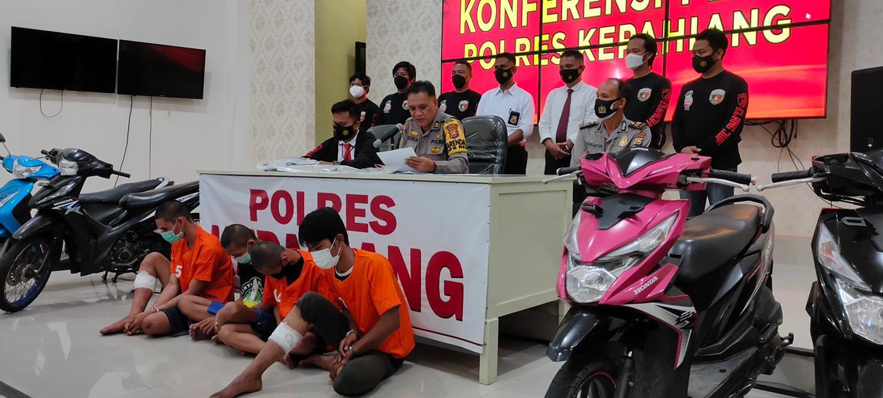 """Amankan Pelaku Curanmor Asal Sumsel, Polres Kepahiang;""""Sasar Jamaah Tarawih"""""""