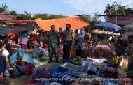 Himbau Prokes, TNI/POLRI Bersama Puskesmas Sambangi Pasar Mingguan