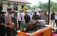 Release Hasil Ops Pekat Nala, Polres Mukomuko Sita Ribuan Liter Miras dan Petasan