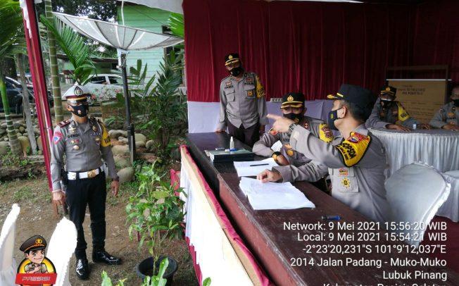Cek Pos Pam Perbatasan Sumbar, Tim 1 Polda Bengkulu Kunjungi Polres Mukomuko