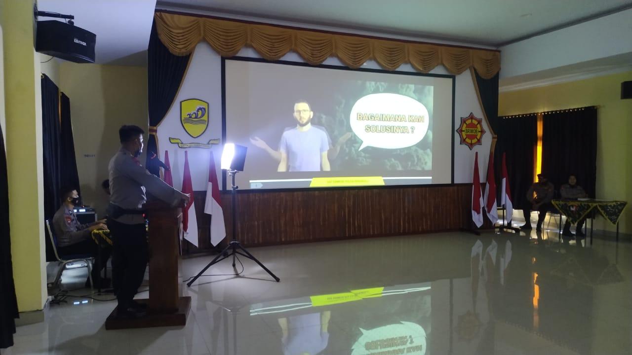 Maksimalkan Peran Brimob Saat Bencana Alam, Sat Brimob Polda Bengkulu Launching Aplikasi Lapor Brimob