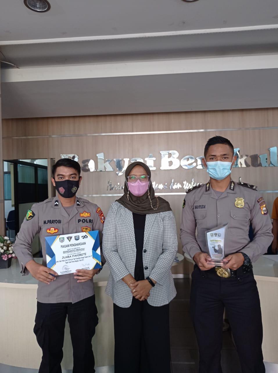 Biddokkes Polda Bengkulu Raih Juara Favorit Dalam Lomba Video Prokes Covid-19