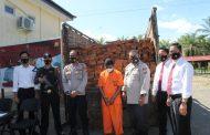 Angkut Kayu Illegal Loging, Warga Jambi Ditangkap Polres MM