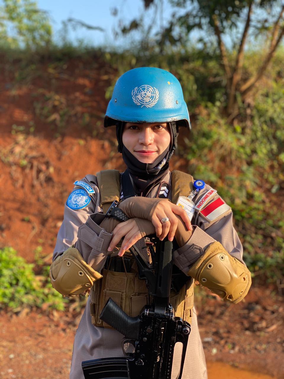 Kisah Briptu Nina Oktoviana Satu-satunya Polwan Polda Bengkulu Lolos Mengikuti Misi PBB