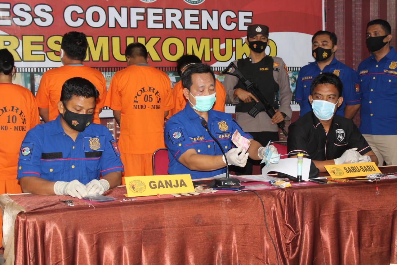 Berantas Penyalahgunaan Narkoba, Polres MM Tangkap 3 Tersangka