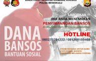 Polda Bengkulu Siapkan Hotline Khusus Penyelewengan Bansos