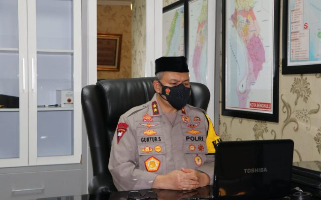 Kapolda Bengkulu Ikuti Zikir dan Doa Kebangsaan 76 Tahun Indonesia Merdeka Secara Virtual