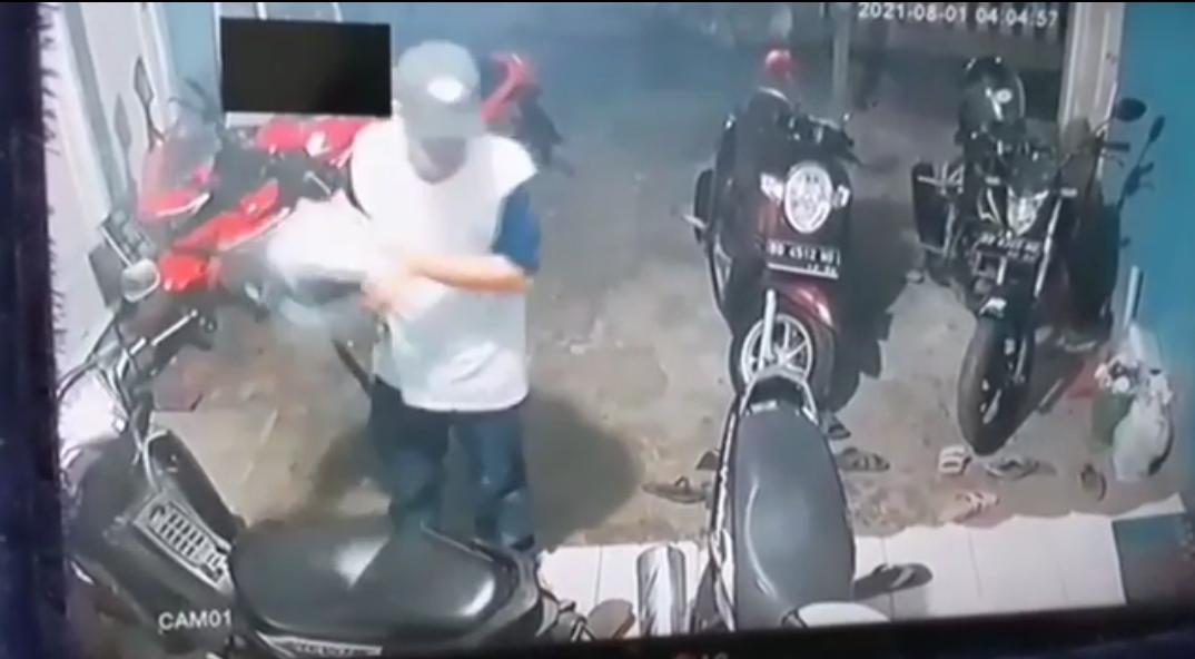 Polres Bengkulu Dalami Pelaku Curanmor Yang Terekam CCTV