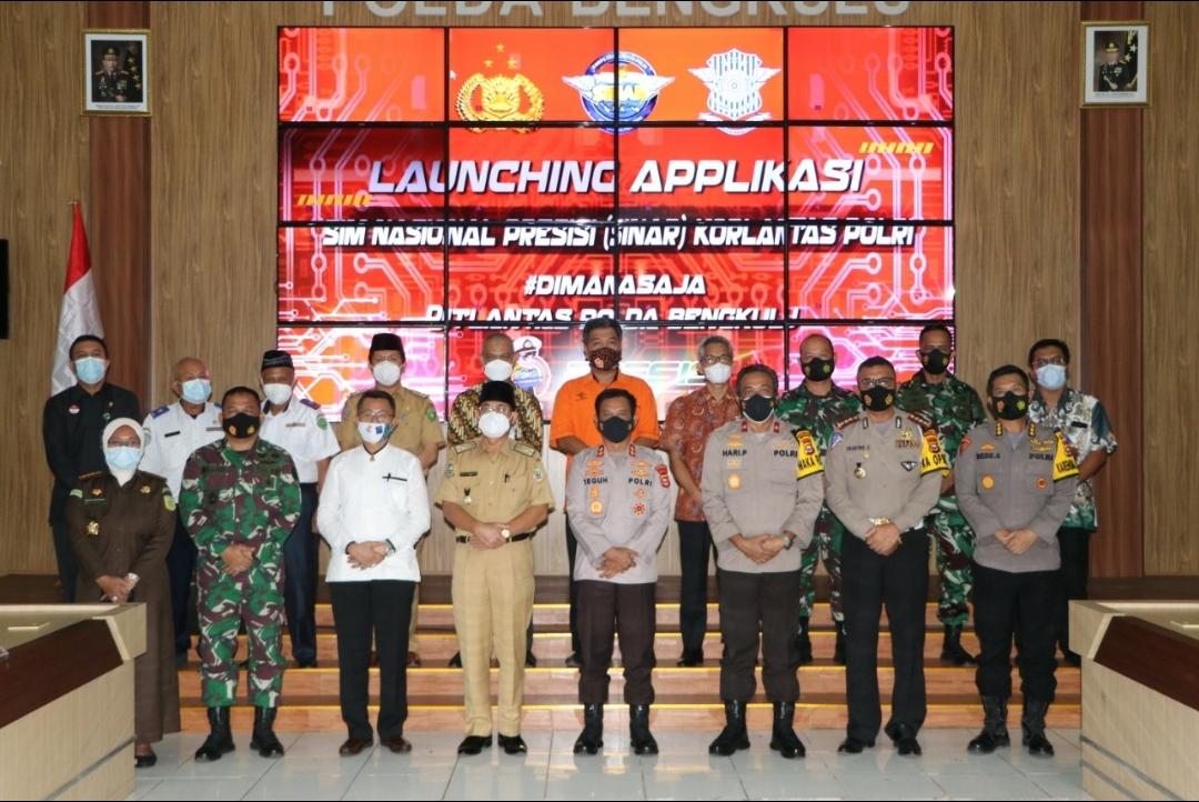 Via Virtual, Kapolda Bengkulu Ikuti Launching Aplikasi SINAR