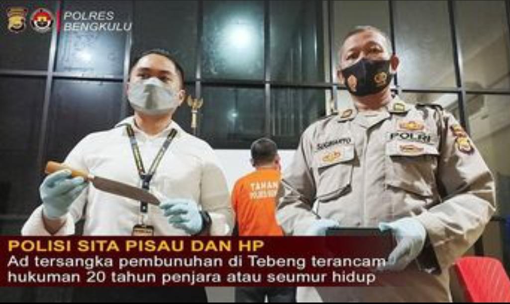 Tsk Pembunuhan di Tebeng Terancam Hukuman Penjara 20 Tahun atau Seumur Hidup