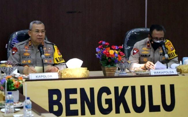 Kapolda Bengkulu Pimpin Gelar Operasional dan Pembinaan Semester 1