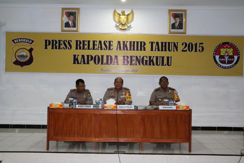 Press Release Akhir Tahun 2015 Polda Bengkulu