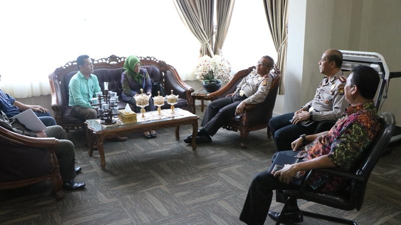 Kapolda Sambut Anggota Komisi III DPR RI dr. Anarulita Muchtar