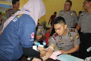 Personil Polres BU Jalani Pemeriksaan Kesehatan