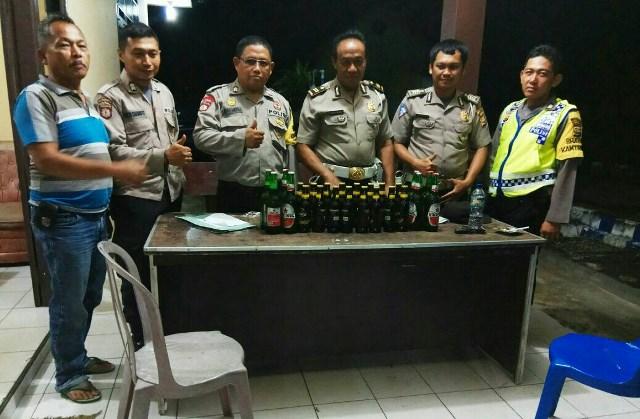 Puluhan Botol Miras Diamankan Polsek Taba Penanjung