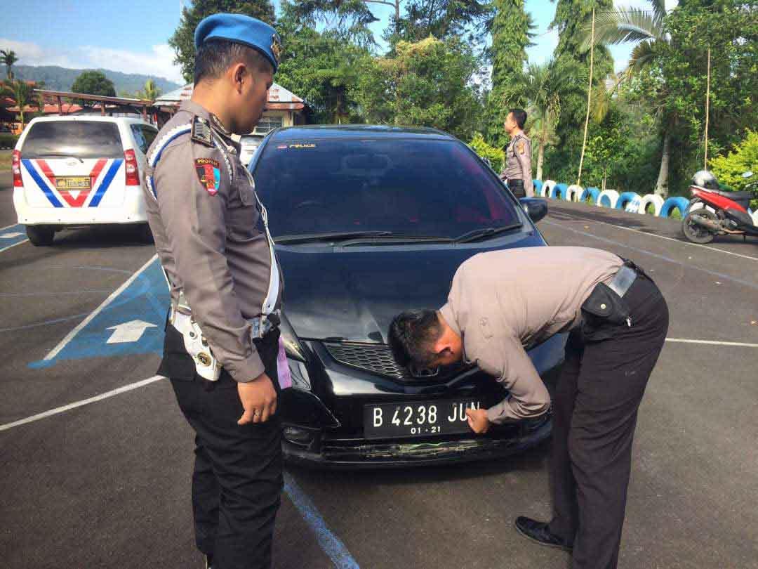 Terbukti Melanggar Oknum Anggota Polres Kepahiang Langsung Ditilang