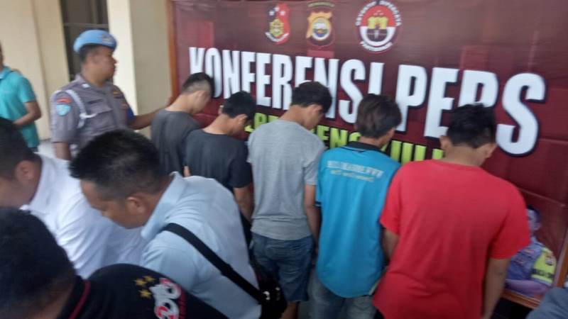Polres Bengkulu Tangkap 5 Pemuda Pembobol Kosan