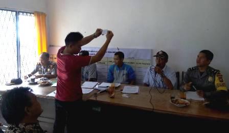 Pilkades Pelalo : Kapolsek Sindang Kelingi Ajak Jaga kamtibmas yang Kondusif