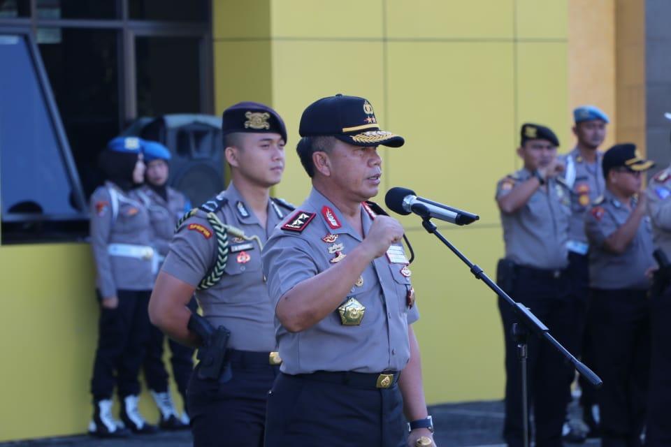 """Jangan Lupa Bersyukur"", Pesan Kapolda Bengkulu Saat Pimpin Apel Pagi"