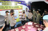 Malam Takbir, Kapolda dan PJU Cek Pospam di Kota Bengkulu