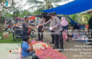 Aktivitas Pasar Mulai Normal, Polsek Talang Empat Ingatan Warganya Patuhi Prokes