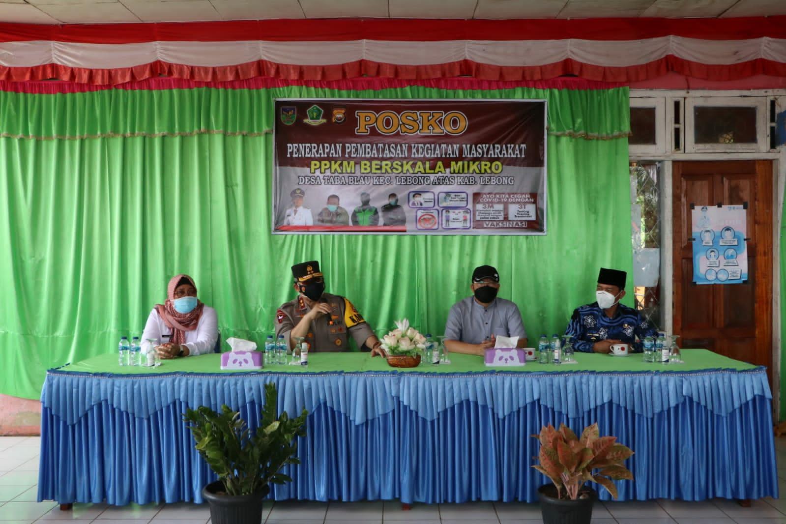 Kapolda Bengkulu Bersama FKPD Cek Penerapan PPKM Level 3 di Lebong