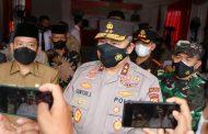 Kapolda Bengkulu Monitoring dan Evaluasi Penanganan Covid-19 di Bengkulu Tengah