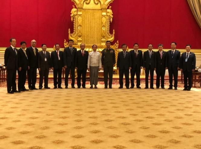 Presiden Myanmar Terima Kunjungan Kehormatan Kapolri