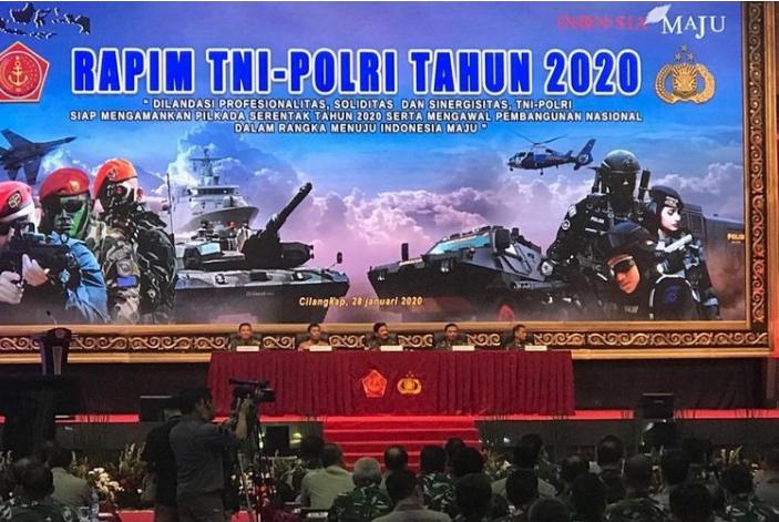 TNI-Polri Gelar Rapim di Mabes TNI Cilangkap