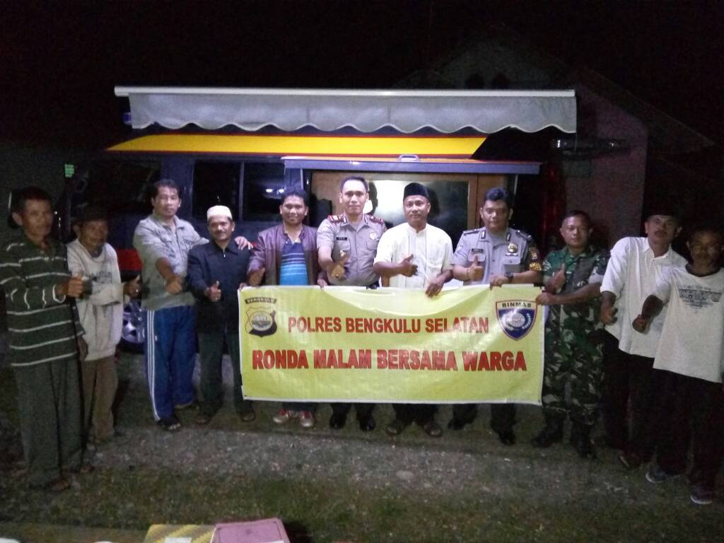 Ronda Malam Bersama Sat Binmas Polres Bengkulu Selatan