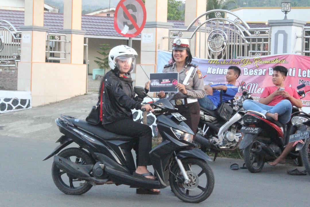 Polwan Polres Lebong Kampanyekan Anti Kekerasan terhadap Perempuan