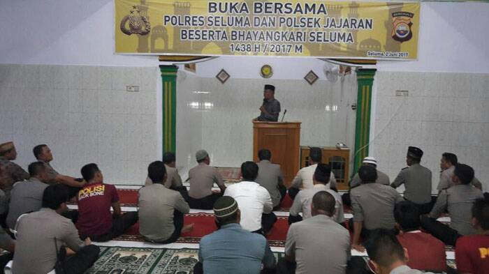 Jalin Silaturahmi,Polres Seluma Gelar Buka Bersama