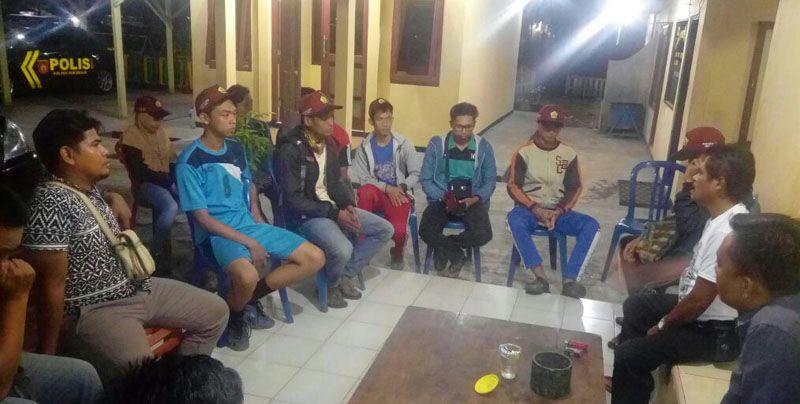 Berikan Himbauan Kamtibmas,Kapolsek Sukaraja Kumpulkan mahasiswa di Mako Polsek