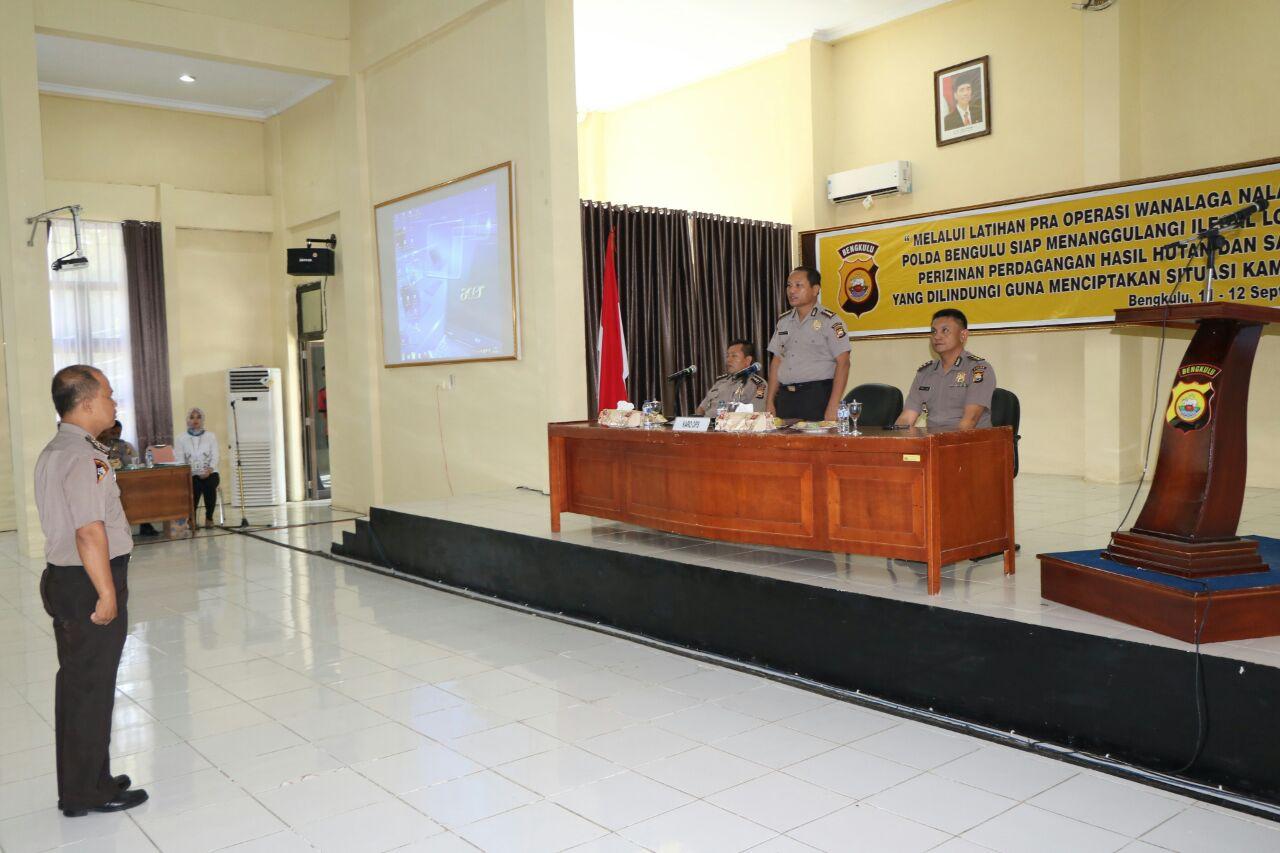 Polda Bengkulu Gelar Lat Pra Ops Wanalaga Nala 2017
