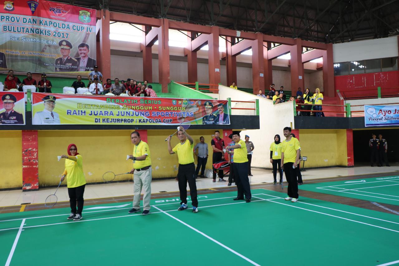 Kapolda Bengkulu buka turnamen Badminton Se – Sumatra