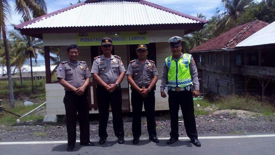 Sinergitas Polsek Perbatasan Provinsi Bengkulu dan Lampung